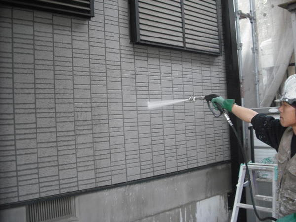 豊田市 F様邸 戸建 外壁塗装 無機コース高圧洗浄150キロ