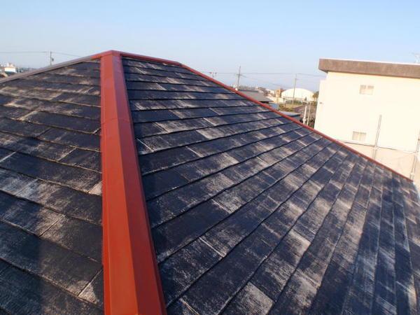 安城市 M様邸 外壁塗装 屋根塗装 無機コース屋根下塗り完了2