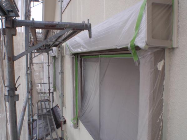 名古屋市 A様邸 戸建 外壁塗装 屋根塗装 無機・フッソコース下塗り完了